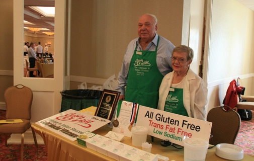 Gluten-free: Lou and Lucy DiLisio were displaying their pasta sauces at the Butterfield & Vallis Trade Fair Show. *Photo by Don Burgess