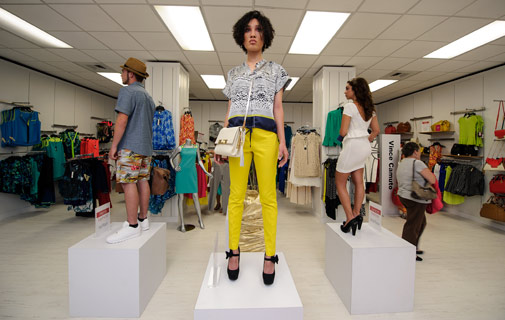 Model behaviour: Fashion Night Out took place across Hamilton last night.  *Photo by Kageaki Smith