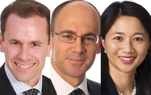 L-R: Timothy Faries, Appleby's group head of Corporate & Commercial in Bermuda; Cameron Adderley, global head of Appleby's Corporate & Commercial department; Frances Woo, Appleby's Chairman. *File photos
