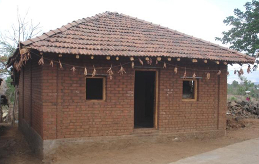 Home sweet home: One of the houses in India built by the charity Habitat for Humanity International (Habitat). *Photo supplied