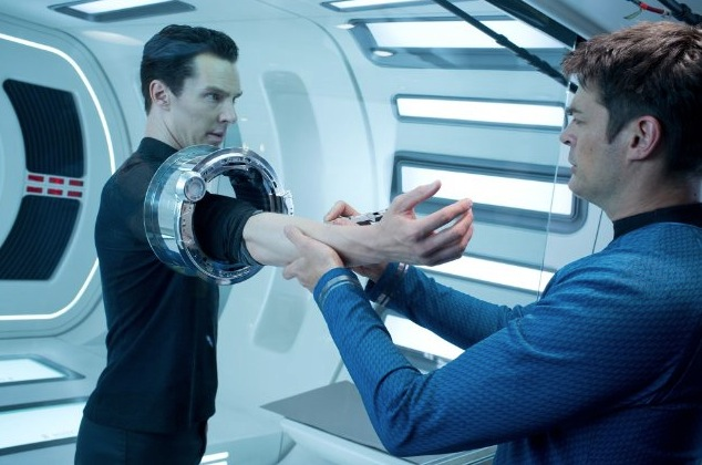 Karl Urban and Benedict Cumberbatch in Star Trek Into Darkness. *Photo courtesy of Paramount Pictures