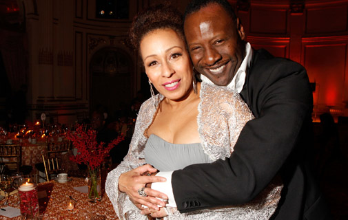 Tamara Tunie and Gregory Generet attend the Torch Ball hosted by Evidence, A Dance Company at The Plaza Hotel on March 25, 2013 in New York City. *AFP photo