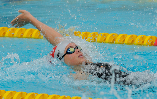 Exciting young swimmer Maddy Moore in action. *File photo