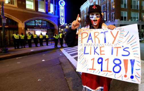Historic: The last time the Red Sox won the World Series was 1918. *AFP photo