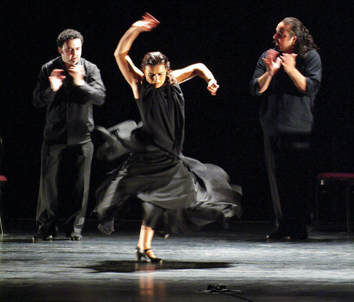 Swirling: The audience at Friday night's Noche Flamenca at City Hall was treated to performances full of emotion and passion. *Photo supplied