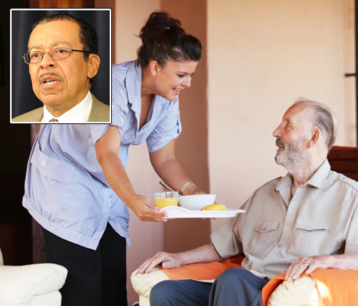 Shadow Minister for Seniors Derrick Burgess, inset, said that at present there are not enough rest and nursing homes of an acceptable standard. *File photo/iStock photo