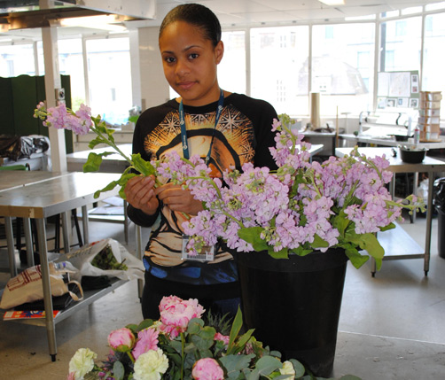 Inspired: Garina Tucker credits her great aunt Rose Douglas for helping give her a passion for floristry. *Photo supplied
