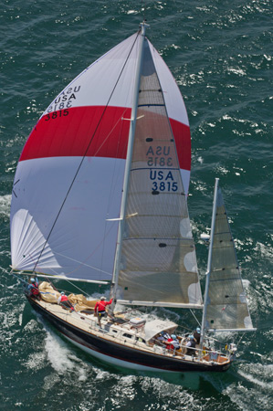 St. David's winner Actaea reaching fast under spinnaker. *Photos by  Daniel Forster/ Barry Pickthall/PPL