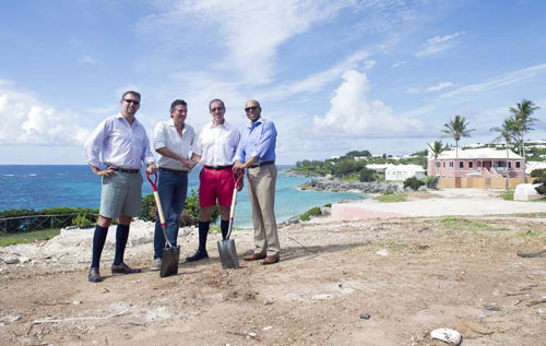 Minister of Home Affairs Michael Fahy, Sardis Development Lt. representative Stephen King,  Premier Michael Dunkley, and Minister of Tourism and Transport Shawn Crockwell. *Photo supplied