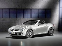 Status Symbol: Affluent Bermudians looking for a new toy will have to wait till after Christmas for this one. Mercedes-Benz has entered into a deal with businessman Richard Davidge to sell the high-end automaker's products in Bermuda, including this SLK sports car.