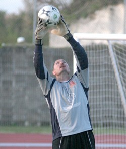 Safe hands: Tim Figureido will help protect the Bermuda Hogges' nets this season. *Bermuda Sun file photo