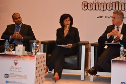 On topic: Cheryl Packwood, CEO of Business Bermuda, took part in a panel discussion at the 18th Annual World Islamic Banking Conference in Bahrain. *Photo supplied