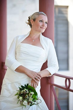 <strong>Special day</strong>: Claire James, pictured on her wedding day, is the beautiful bride featured in this edition of 'Fairytale Weddings'. The next time it could be you. <em>*Photo by Alex Masters</em>