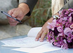<strong>Signature</strong>: Signing the Marriage Register makes it official. <em>*Creative Commons photo by brandocon</em>