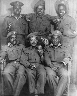 <strong>Heritage</strong>: Some of the black Bermudians who served in the BMA Caribbean Regiment in the Second World War.<em> *Photo courtesy of the collection of the National Museum of Bermuda</em>
