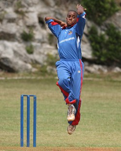 <strong>Solid</strong>: National team coach David Moore said young players like Joshua Gilbert will help forge a new identity for Bermuda's cricket team.<em> *Photo by Ras Mykkal</em>