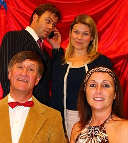 Hissy fits: From left, God of Carnage actors Alan Brooks, Robbie Godfrey, Lizzy Hadler and Laura Bardgett. *Photo supplied