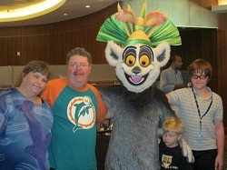 The family enjoyed the Character Breakfast when the little ones got to meet characters from Dreamwork's Madagascar. <em>*Photo by Don Burgess</em><br /><br />