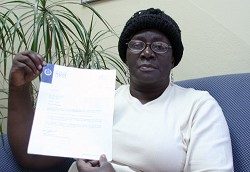 Glennamur Russell with a letter from police in 2010 saying they were investigating her missing jewellery. <em>*Photo by Raymond Hainey</em>