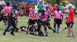 Breaking through: Bermuda defeated Cayman and The Bahamas earlier this week to win the Tri Nations Cup. <em>*Photo supplied</em>
