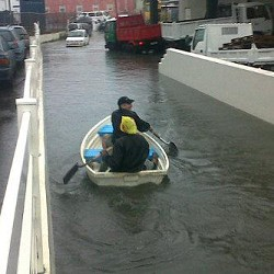 Paddle power: Bakery Lane on Friday. <em>*Photo supplied</em>