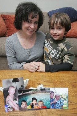 Conceived through sperm donation, 8-year-old Charlie, pictured with his mother Roxanna Rusco of Topeka, Kansas, have met several half-siblings of Charlie's, linked only by the sperm donor. They were able to find the siblings by signing on to a national registry. In the left photograph is half sibling 6-year-old Jack. In the middle photo are Charlie (left), 15-year-old half sibling Sydney and Jack. In right photo are Charlie (left) and Jack. <em>*MCT photo</em>