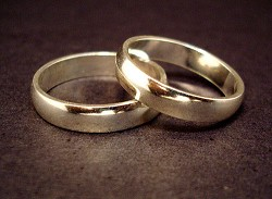 Coupled: Life insurance can be seen, like the wedding rings, as a sign of commitment to each other. <em>*File photo</em>