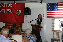 "Rev. Canon Norman Lynas of the Anglican Cathedral, who led the service, said: ""Sea Sunday is a recognition of Bermuda's maritime history, but it's also part of a worldwide organisation which is part of the Anglican church."" <em>*Photo by Raymond Hainey</em>"