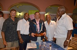 Left to right: Dan Jacobs, tournament director, Walter Cross, Minister Furbert, Glenn Astwood, Lovintz Cann. <em>*Photo supplied</em>