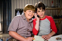 Robert Capron, left, and Zachary Gordon star in Diary of a Wimpy Kid: Dog Days. <em>*Photo by Diyah Pera courtesy of Twentieth Century Fox (MCT)</em>