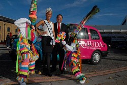 Minister Furbert and Miss Bermuda Rochelle Minors *Photo supplied