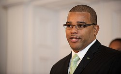 Mr Rabain said that he's excited about the chance of represent the people of Bermuda. *Photo by Kageaki Smith