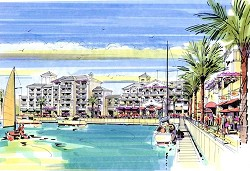 A boat club, pier and marina are also planned for the resort development. *Image supplied