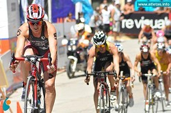 <strong>Bermuda first</strong>: If both Flora Duffy, pictured left, and Tyler Butterfield qualify, it would be the first time Bermuda would send two triathletes to an Olympic Games.<em> *Photo courtesy of Atletas.info</em>