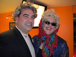<strong>Maggie and Marilyn</strong>: Eric Hirschberg as Margaret Thatcher with Lorraine Hirschberg as Marilyn Monroe. <em>*Photo by Amanda Dale</em>