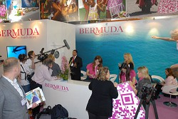 Minister Furbert said he is confident that the remainder of the travel fair will be a successful show. *Photo supplied